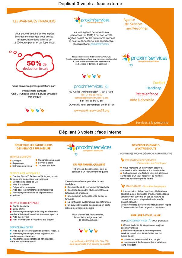 Du00e9pliant 3 volets - Flyer - Livret du0026#39;accueil - Affiche