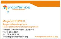 Carte de visite Proxim'Services 75